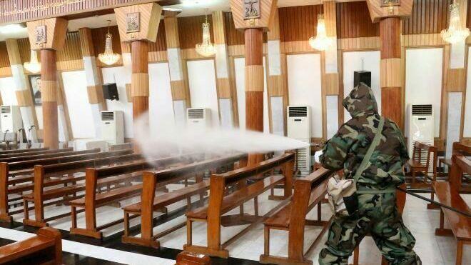 Desinfección iglesia por coronavirus
