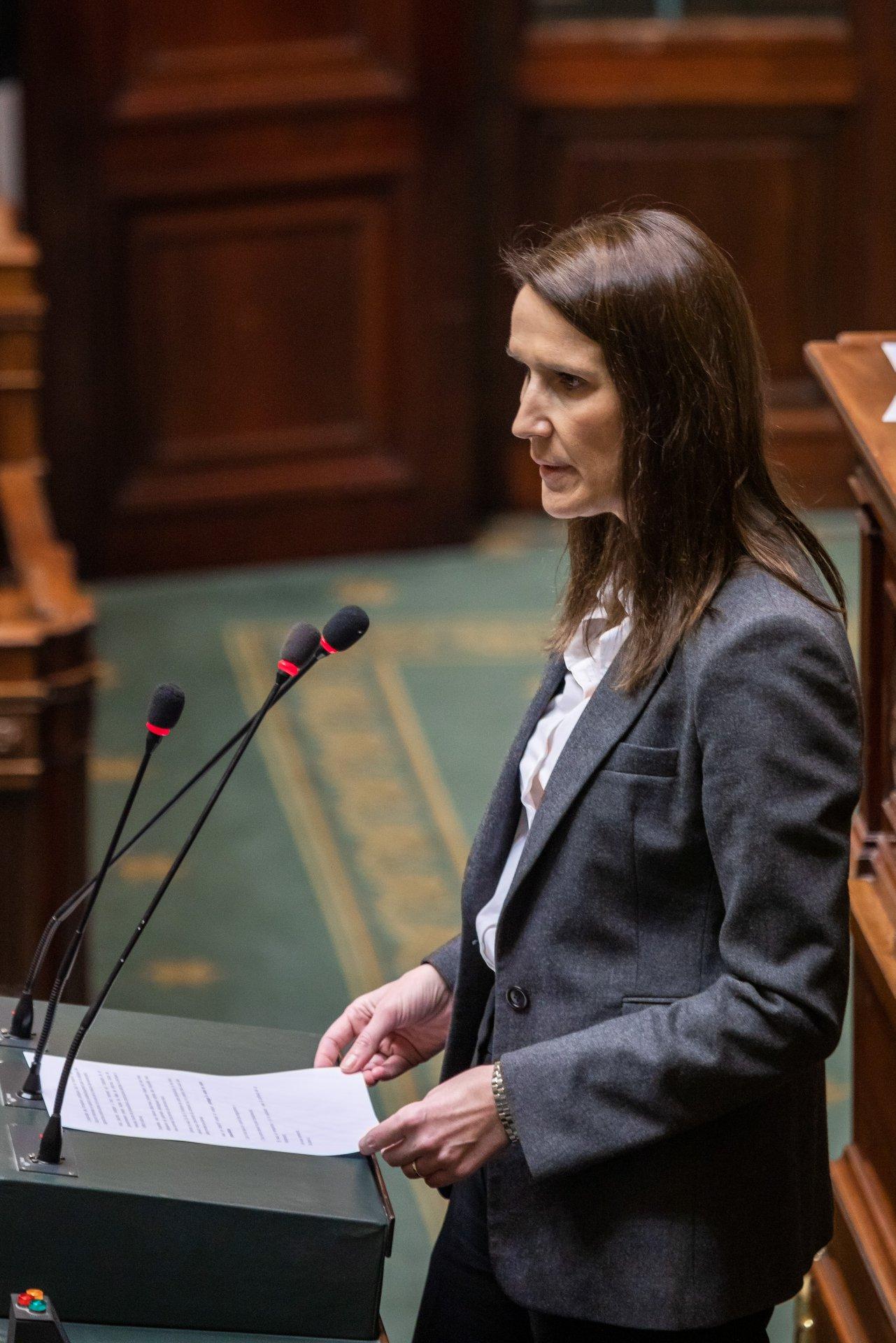 Sophie Wilmès Premier Ministre Belge 17.03.2020