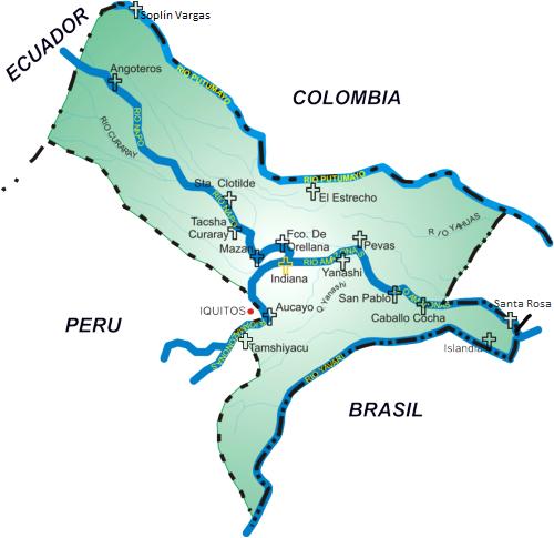 Mapa del Vicariato de San José del Amazonas