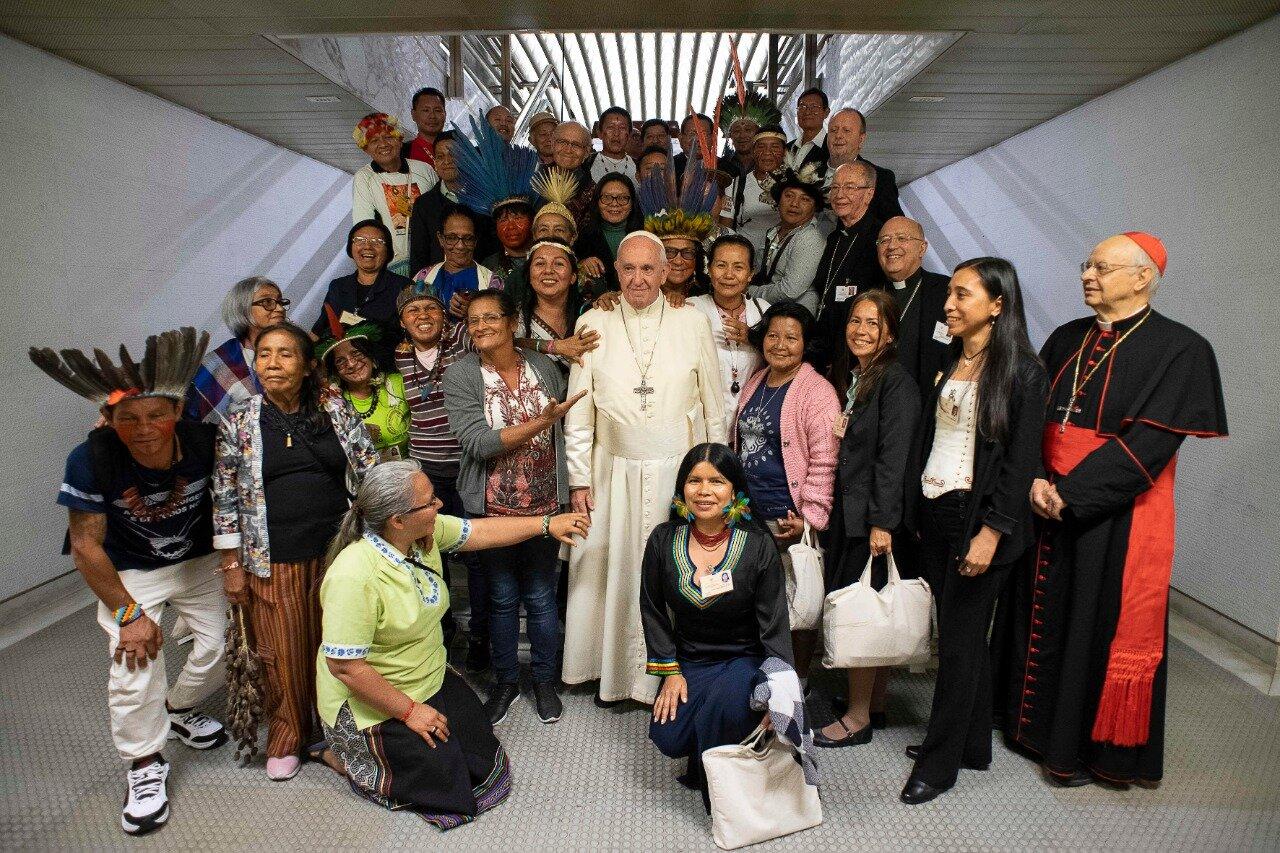 Indígenas en el Sínodo para la Amazonía