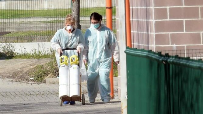Sanitarios frente a la pandemia