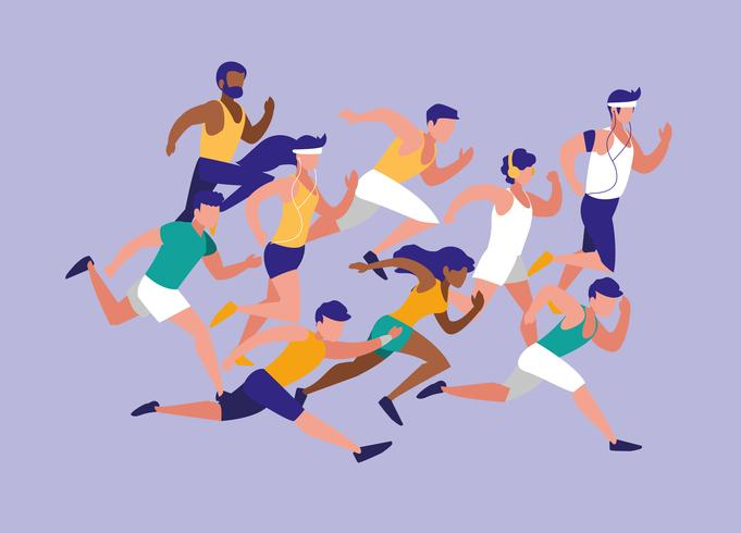 vector-people-athlete-running-avatar-race-character