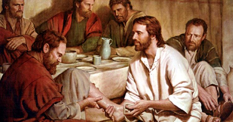 Jesús-lava-los-pies-de-los-discípulos