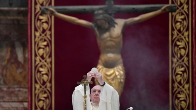 O Papa e o Cristo da Peste