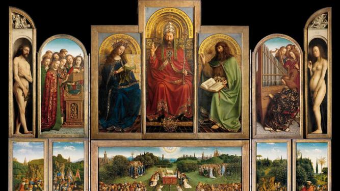 Políptico de la Adoración del Cordero Místico. Hnos Van Eyck
