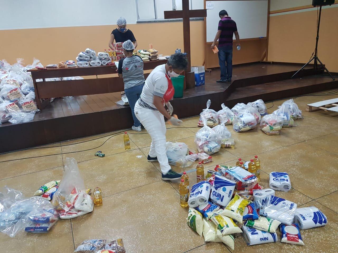Donativos recibidos en Caritas Manaos