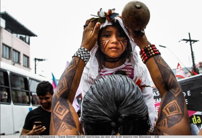 Indígenas en Manaos