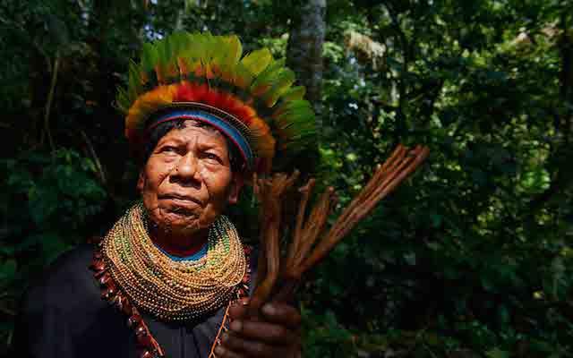 Indígena en la Amazonía