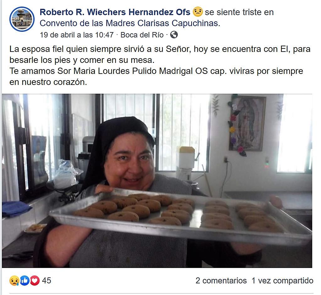 Sor María Lourdes. Homenaje.