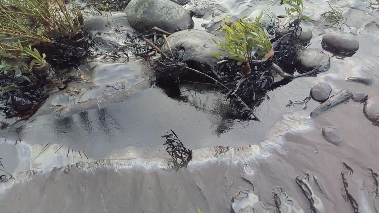 Derrame de crudo en la Amazonía ecuatoriana