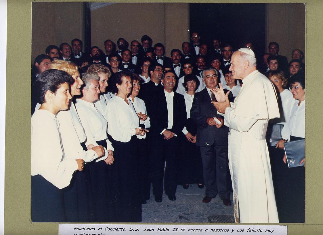1985 Concierto Iradier a JPII 02