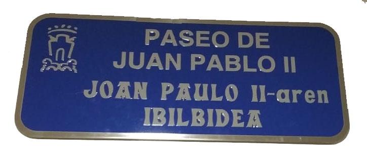 La Placa del Paseo JPII-1