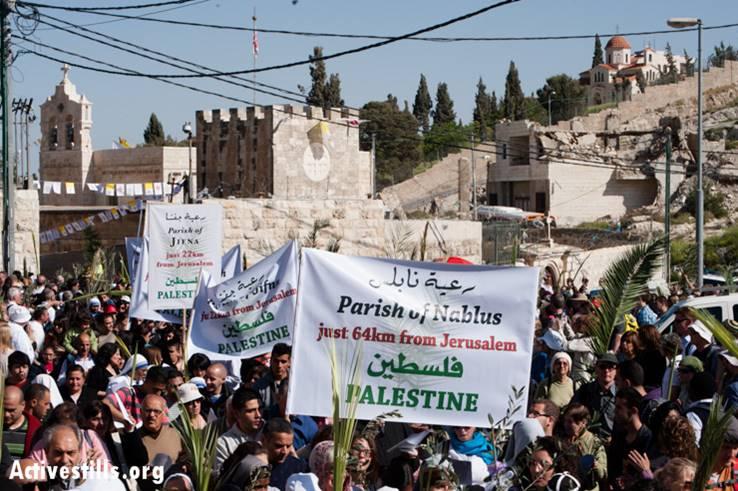 Peregrinación de Domingo de Ramos en Jerusalén, 2013