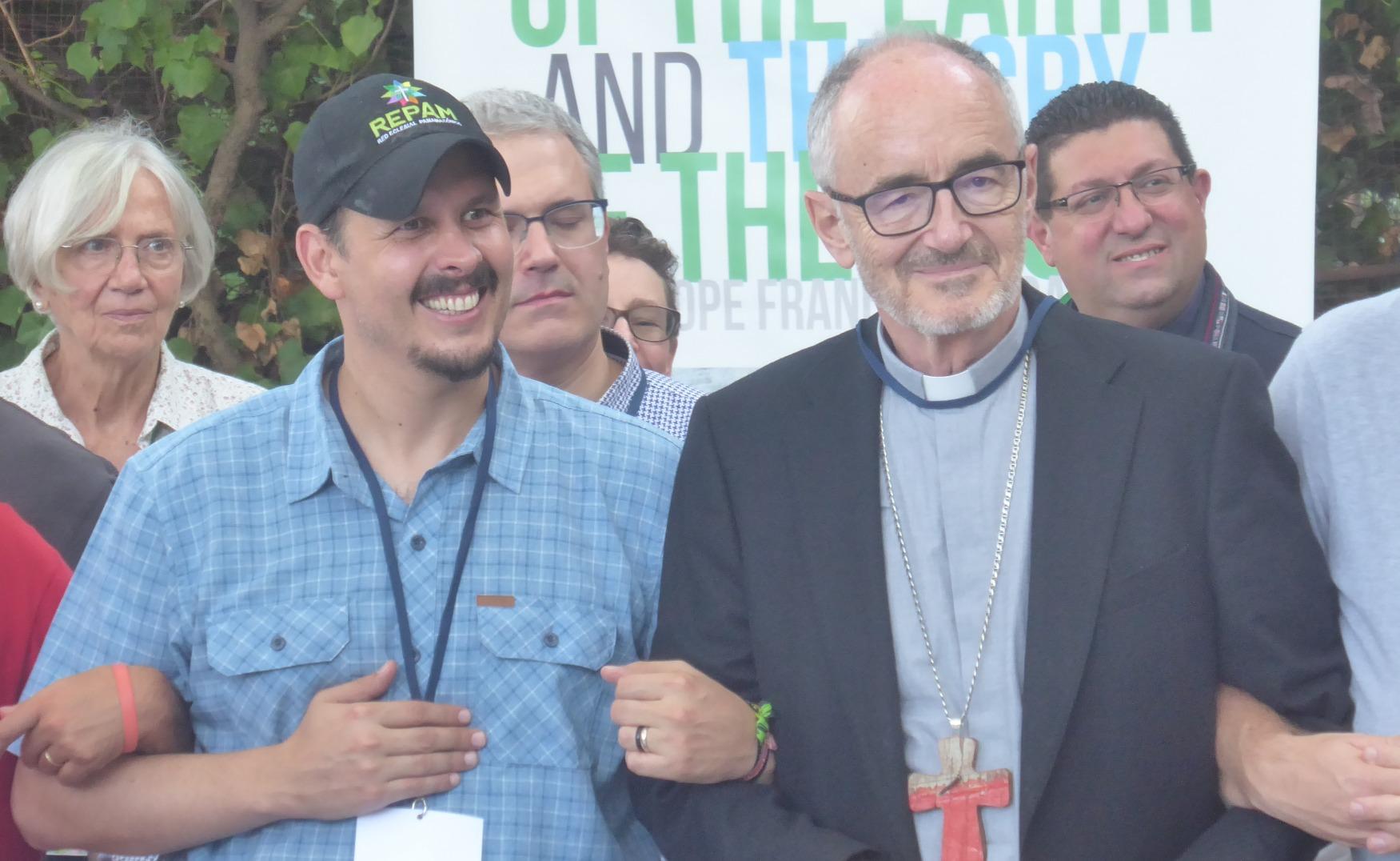 Mauricio López y el Cardenal Czerny