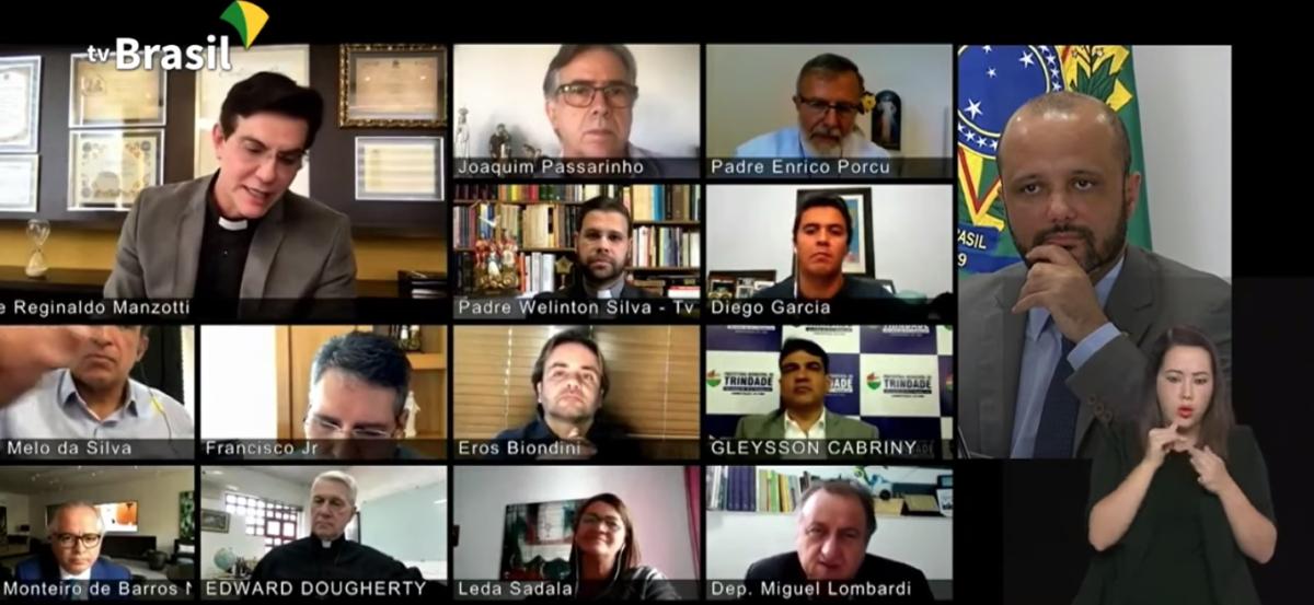 Reunión Bolsonaro TVs Católicas