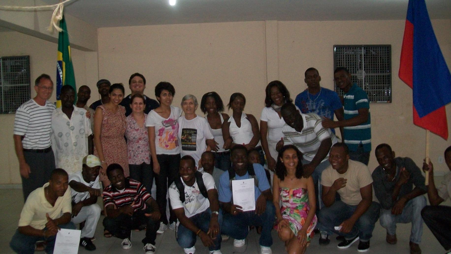 Migrantes haitianos en Manaos