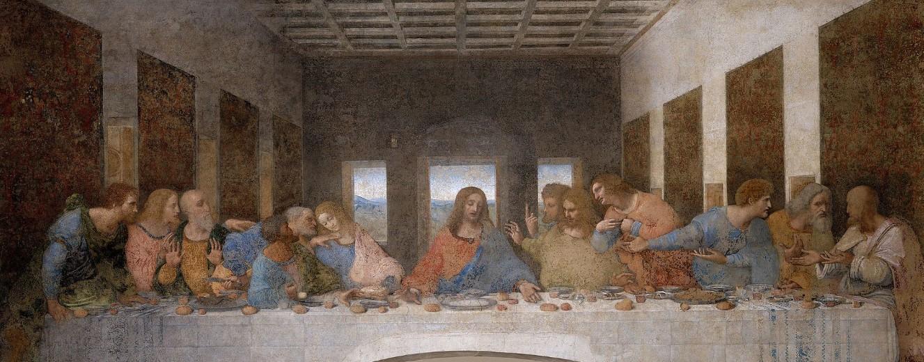 la última cena. Leonardo Da Vinci