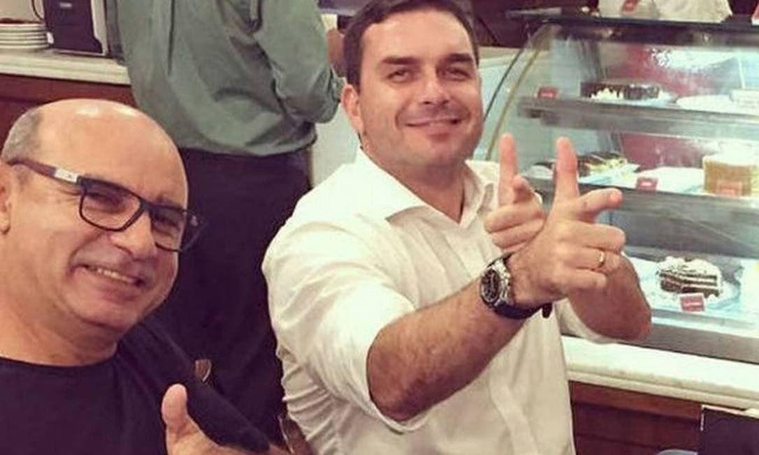 Queiroz y Flávio Bolsonaro