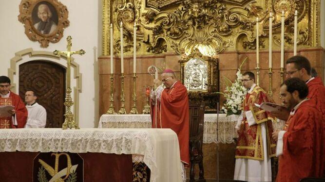 Demetrio Fernández, en la celebración de San Pelagio