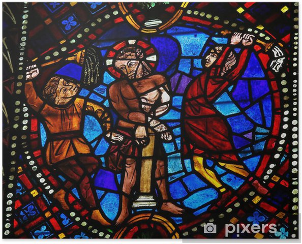 posters-la-tortura-de-jesus-vidrios-de-colores-en-leon