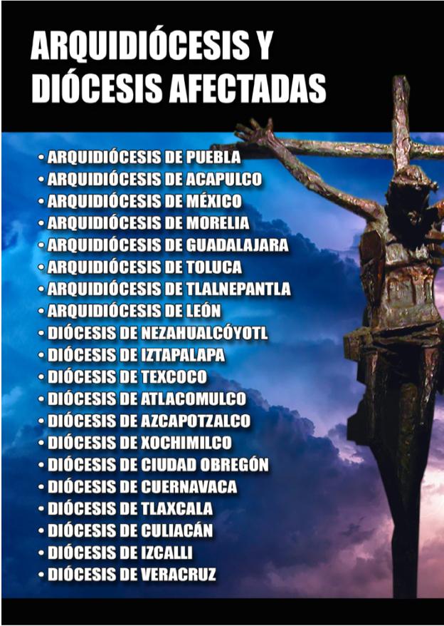 diocesis afectadas