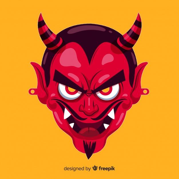 mascara-demonio-halloween-diseno-plano_23-2147909150