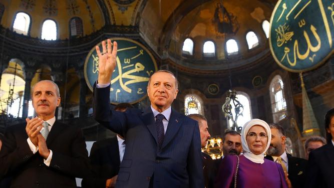 Erdogan en Santa Sofía