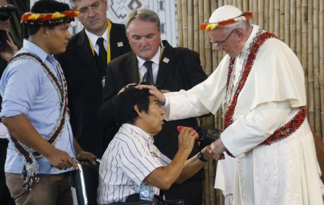 Santiago Manuin y el Papa Francisco