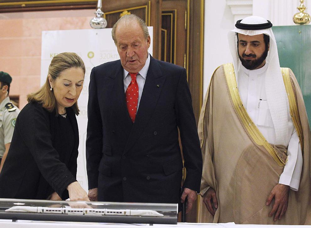 Ana Pastor y el rey don Juan Carlos