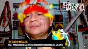 Gregorio Díaz Mirabal Asamblea por la Amazonía