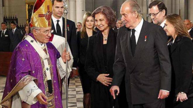 Juan Carlos I y el cardenal Rouco