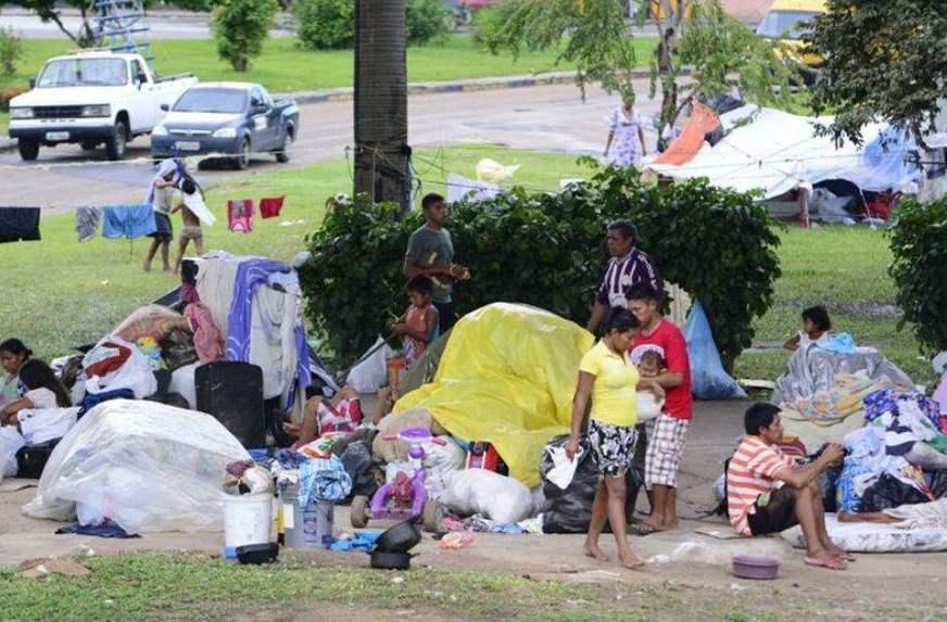 Migrantes en Manaos