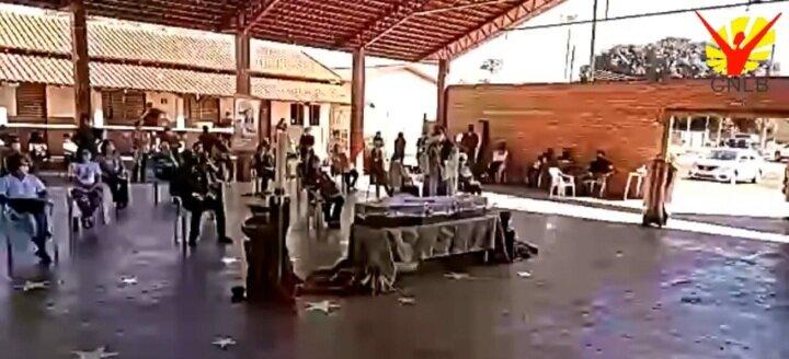 Dom Neri Tondello en la homilía