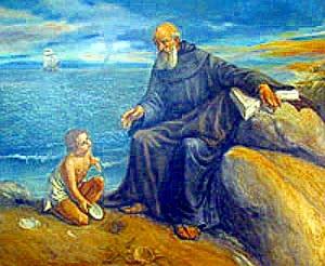San Agustin y el niño