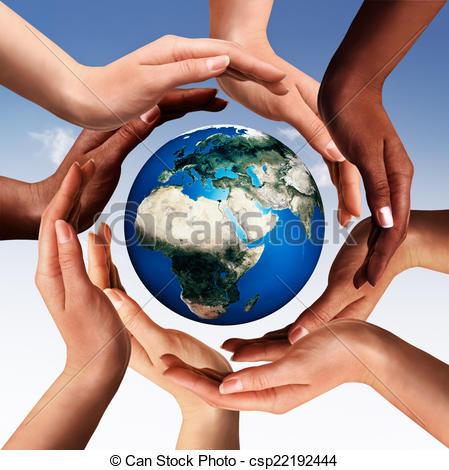 alrededor-glob-juntos-multiracial-dibujo_csp22192444