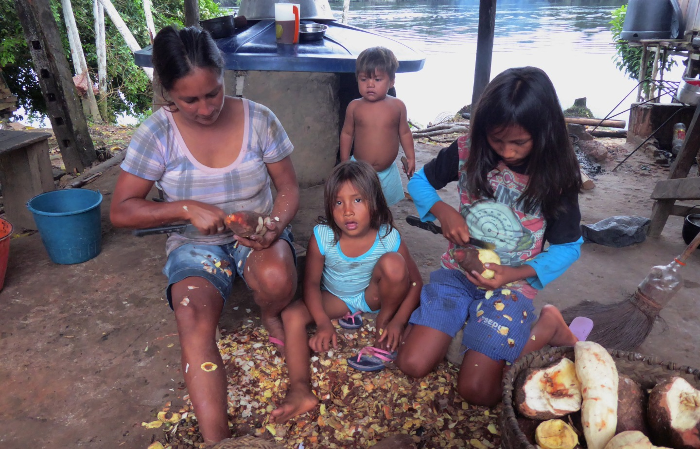 El trabajo cotidiano en la Amazonía