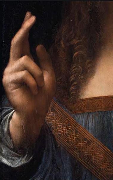 dittaglio salvator mundi Leonardo