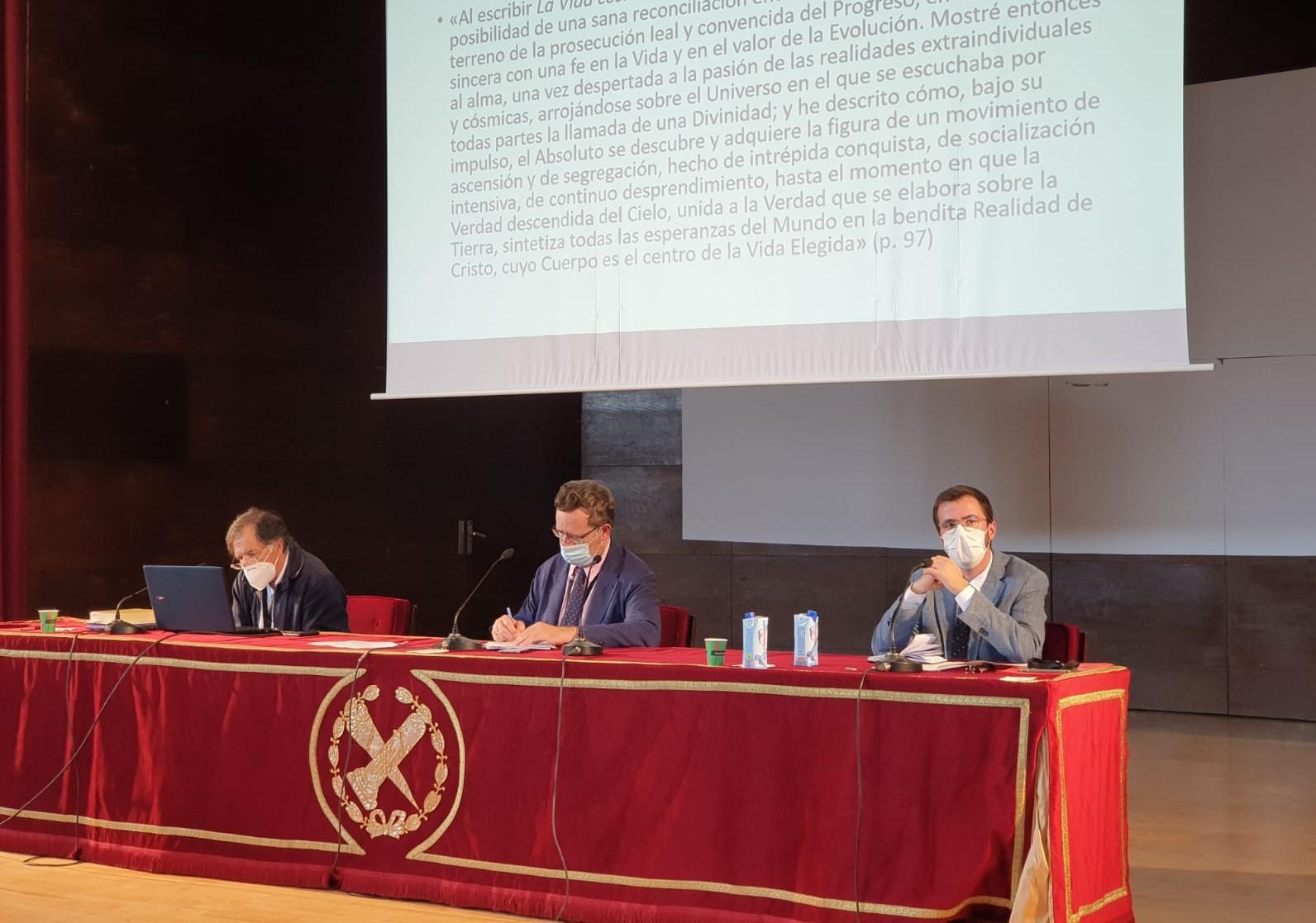 Javier Fernández Vallina, Rafael Ruiz Andrés y Antonio Barnés Vázquez en la Mesa Newman-Stein