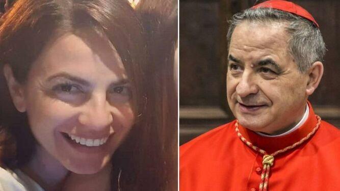 Cecilia Marogna y Angelo Becciu