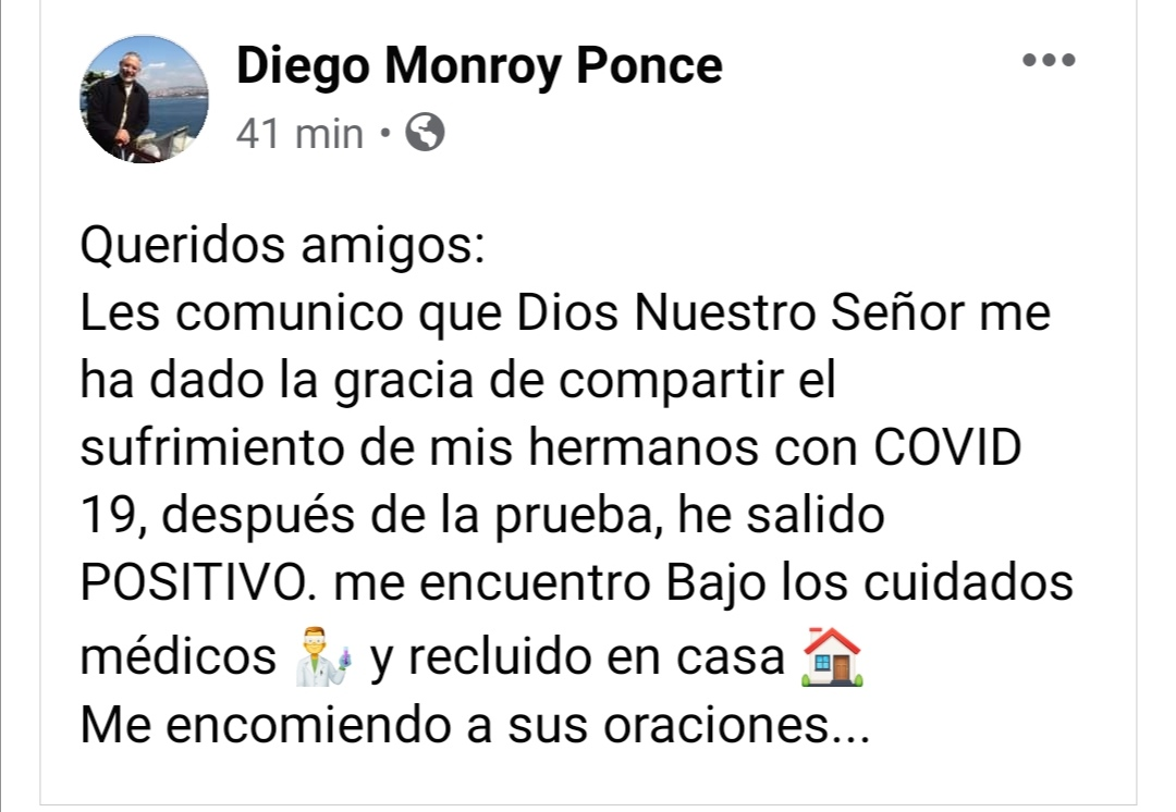 Diego Monroy. Gracia y covid-19