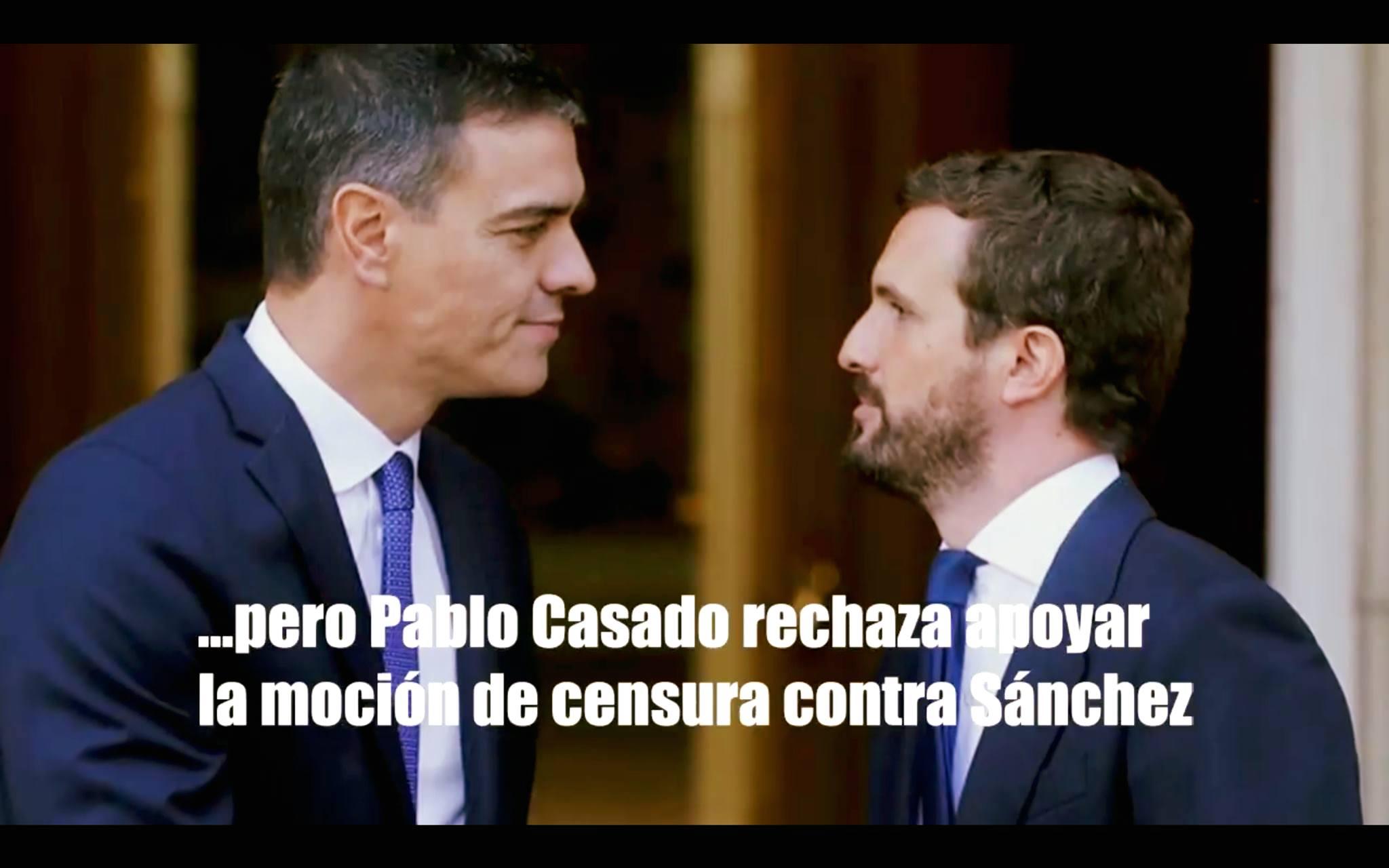 Pablo Casado rechaza apoyar la moción de censura