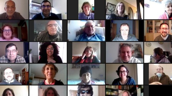 Participantes virtuales en la XLI Jornada Nacional de Apostolado Seglar 2020