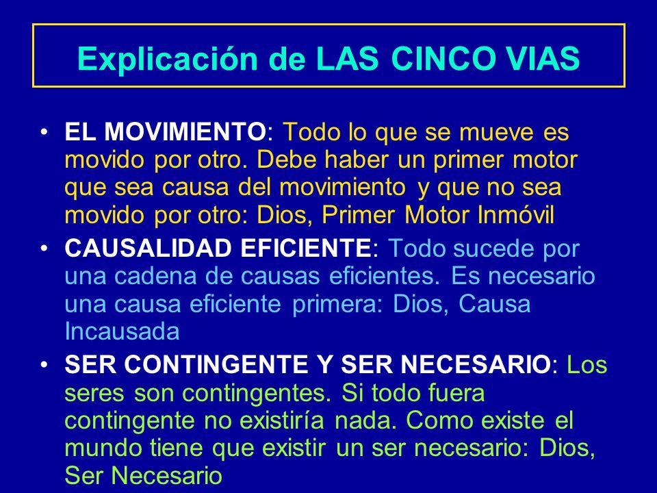 Explicación+de+LAS+CINCO+VIAS