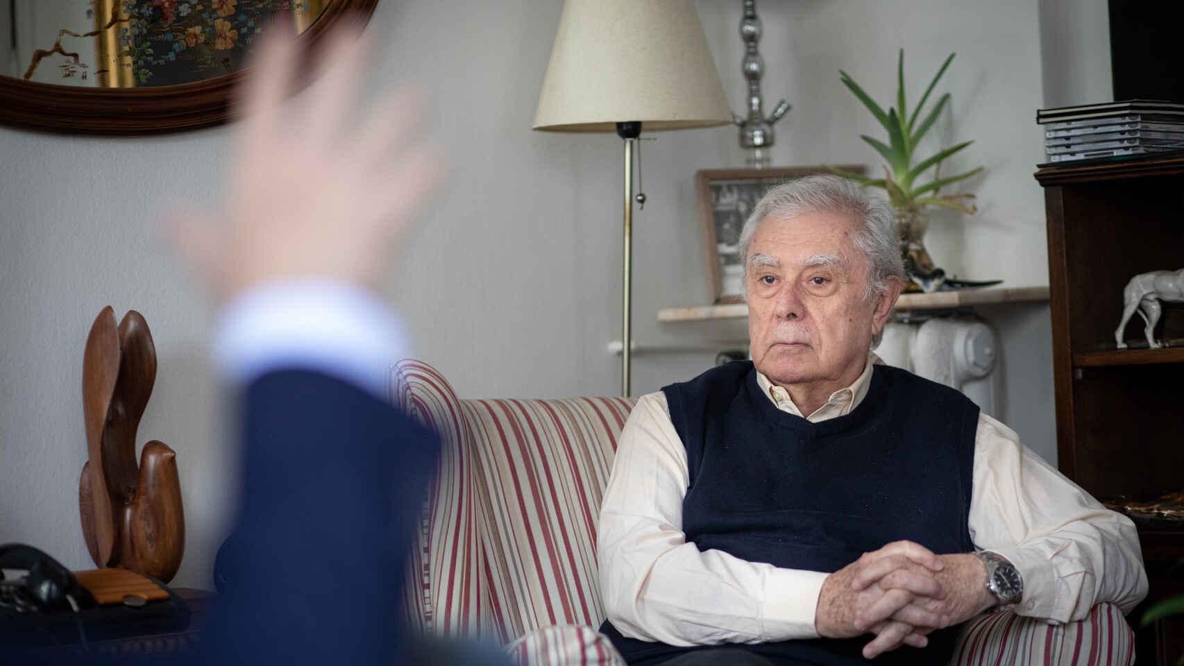 Javier Ruipérez, durante la entrevista