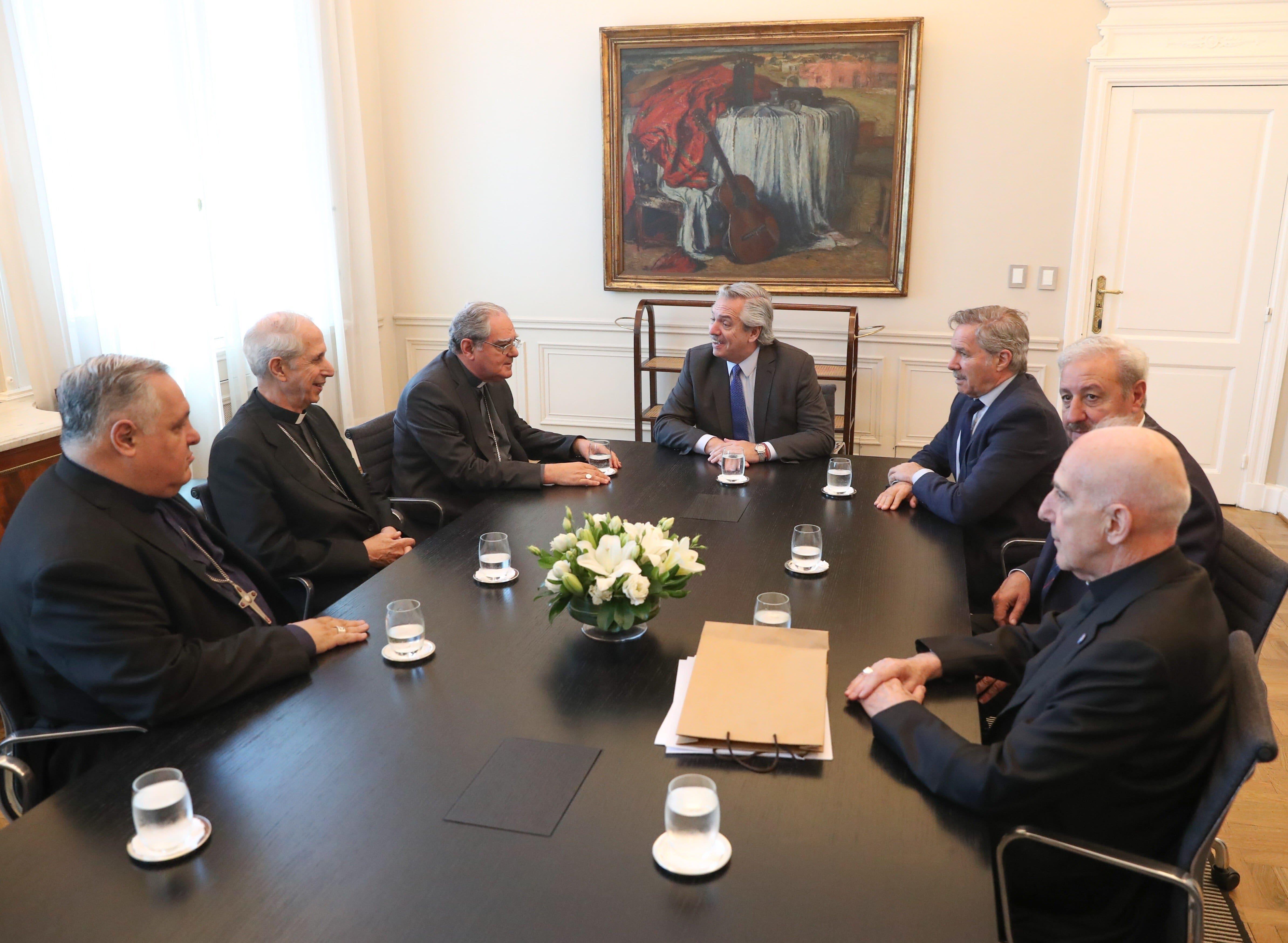 Obispos argentinos con Alberto Fernández