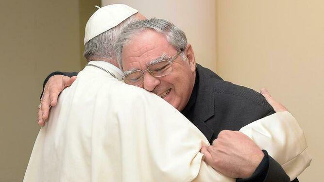 Ojea con el Papa Francisco