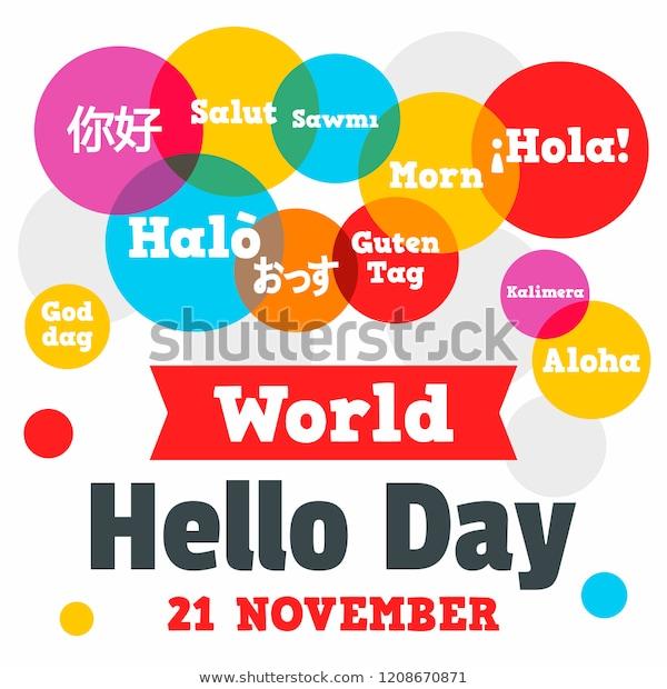 world-hello-day-concept-background-600w-1208670871