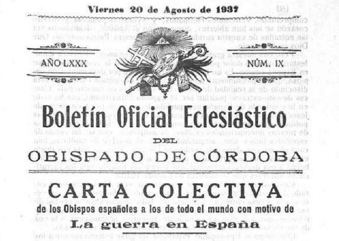 La Carta Colectiva del episcopado español