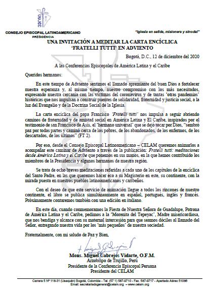 Carta Mons. Cabrejos