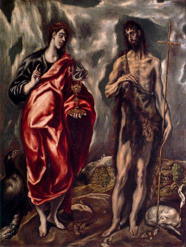 San Juan Bautista y San Juan Evangelista_ El Greco_